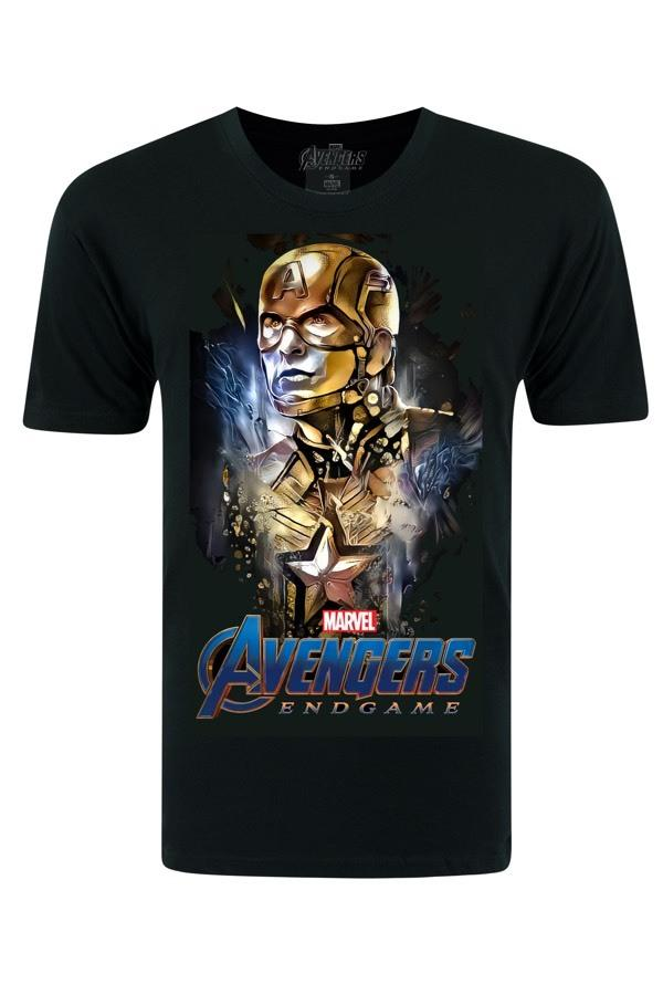 Avengers Captain America  Black T-shirt