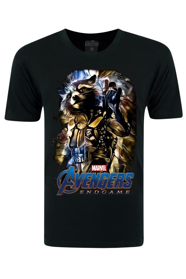 Avengers Rocket Raccoon Black T-Shirt