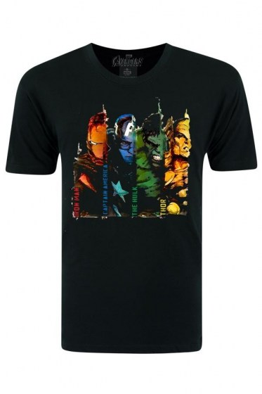 Avengers Four Heroes Black T-shirt